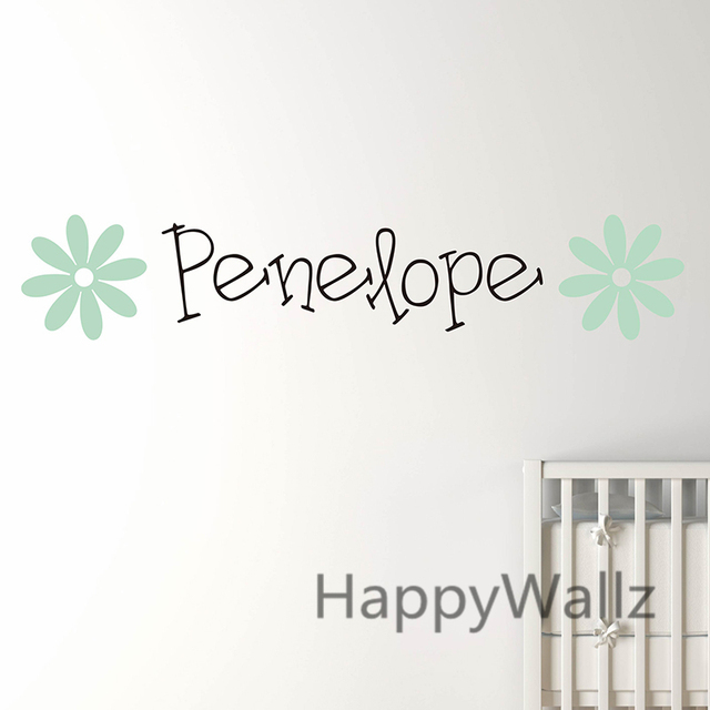 Custom Name Flowers Wall Sticker DIY Personalized Name Wall Decal Kids Room Baby Nursery Children Name  sc 1 st  AliExpress.com & Custom Name Flowers Wall Sticker DIY Personalized Name Wall Decal ...