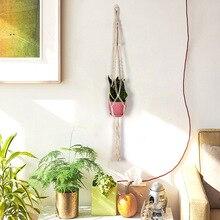 Лидер продаж, ручная работа, подвеска для растений из макраме цветок/горшок вешалка для отделки стен Countyard сад дома декоративная корзина для цветов