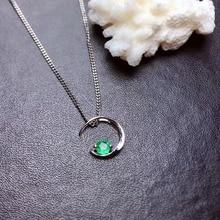 купить SHILOVEM 925 sterling silver Emerald pendants classic fine Jewelry women cute women gift wholesale new mz3.53.568agml дешево