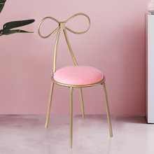 лучшая цена Nordic Iron Casual Bow Back Chair Cafe Modern Dining Chair Restaurant Restaurant Meeting Room Chair Chairvelvet Dining Chairs