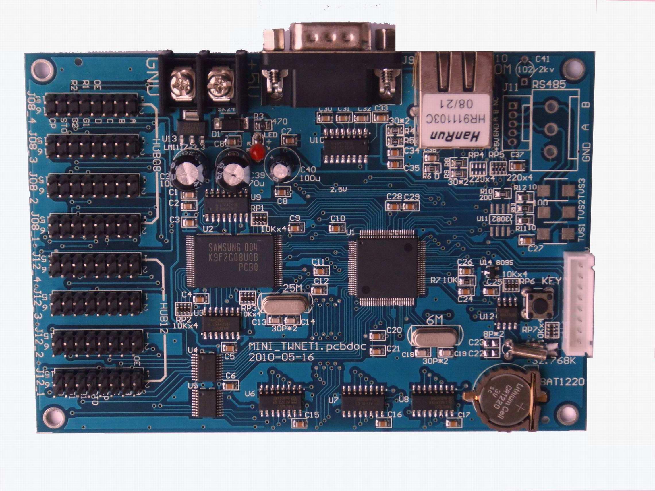 Pode Ser Ligado ao PLC Software De Gestão Da Produção na Fábrica, Oficina de Kanban Kanban Eletrônico Porta de Rede Cartão De Controle De LED.
