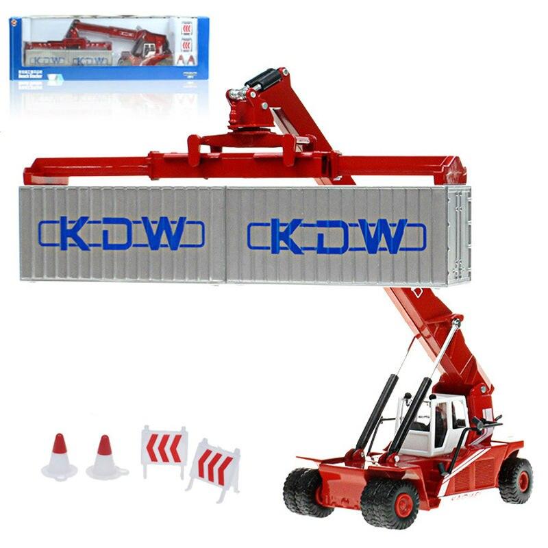 Alliage d'ingénierie camion conteneur grue devant transport véhicule de simulation enfants jouets de noël cadeaux 1:50