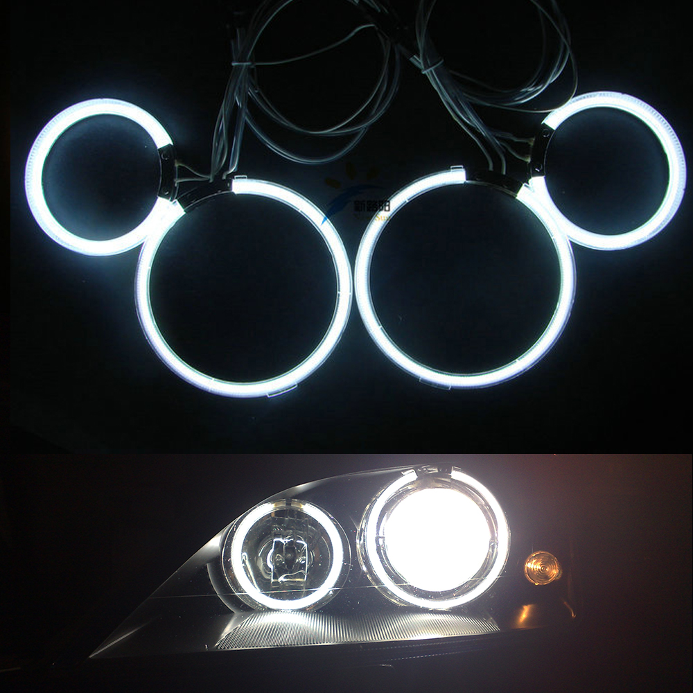4pcs/lot angel eyes Ultrabright illumination CCFL Angel Eyes kit Halo Ring For FORD Mondeo MK3 2001 2003 2004 2005 2006 2007 for mazda rx8 rx 8 2004 2008 excellent led angel eyes ultrabright illumination smd led angel eyes halo ring kit
