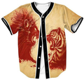 Envío Libre 3D Liger Impreso Sobrecamisa Casual Hombres Ropa Rojo Jersey Tops Streetwear prendas de Vestir Exteriores