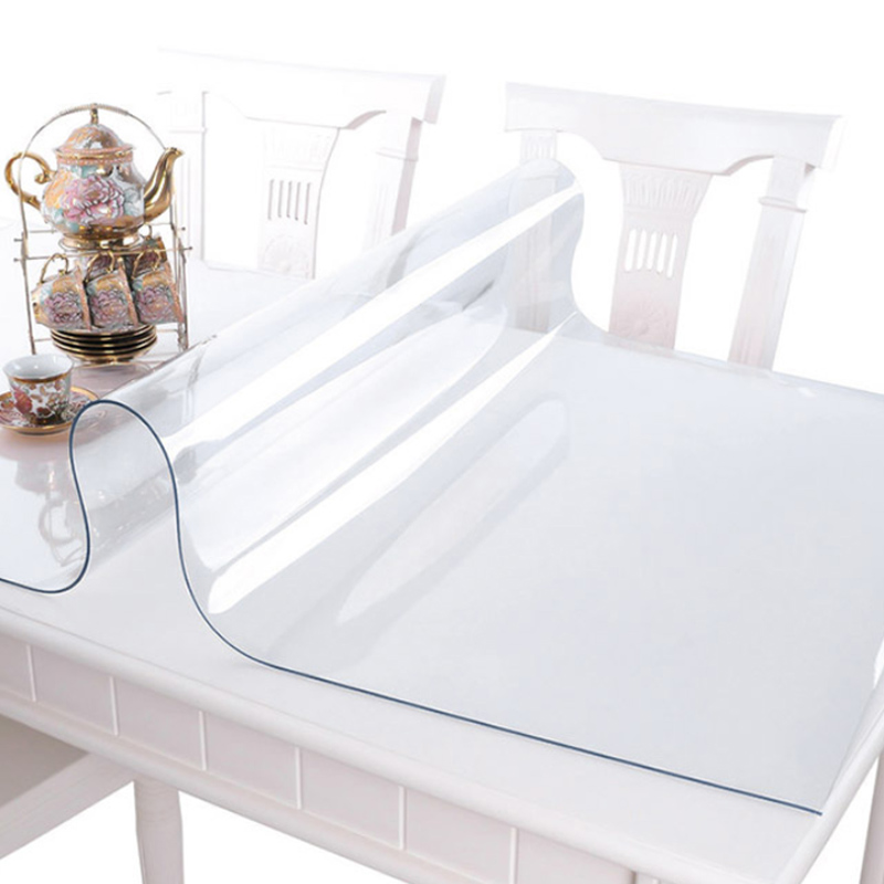 HAZY 1.5mm PVC Transparent Tablecloth Waterproof Rectangle Table Cover Oilproof Table Cloths Soft Glass Cloth Kitchen Decoration