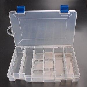 Image 4 - Inteligente ajustável 6 compartimento caixa de pesca plástico iscas pesca enfrentar ganchos iscas armazenamento caso carpa pesca acessórios