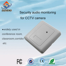 CCTV surveillance wall microphone sound monitor audio voice pickup device for Security Camera 6 12v audio pickup recording surveillance sound monitor for cctv camera mic