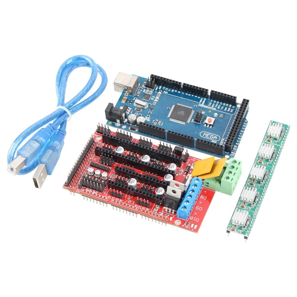 3D printer kit RAMPS 1.4 + Mega 2560 + 5pcs A4988  for  RepRap Prusa i3