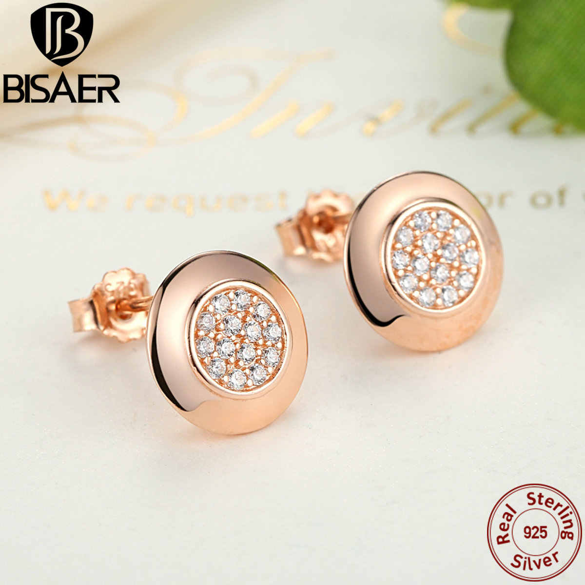 Genuine 925 Sterling Silver Women Earrings One Love Signature Stud Earrings for Women European Sterling Silver Brand Jewelry