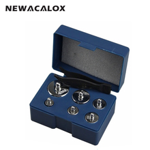 NEWACALOX 6pcs/set Calibration 200g Grams Precision Calibration Jewelry Scale Weights Correction Set 100g 50g 20g 10g 5g