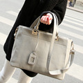 2016 new Shoulder Bag Messenger Bag women bag of large capacity packet cortical Pu fabric fashion black grey white yellow