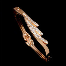 Elegant Women Crystal Cuff Wristband Charm Bracelet