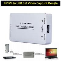 VOXLINK XI100D 1080 P 60FPS UVC USB 3.0 HDMI Capture Dongle USB2.0 HDMI Carte de Capture Boîte pour Windows Linux OSX Système Xbox PS4