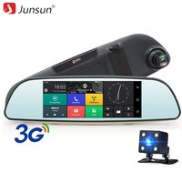 Junsun 3G Car DVR Mirror 6 5 Android 5 0 With GPS Full 1296x1080P Video Recorder