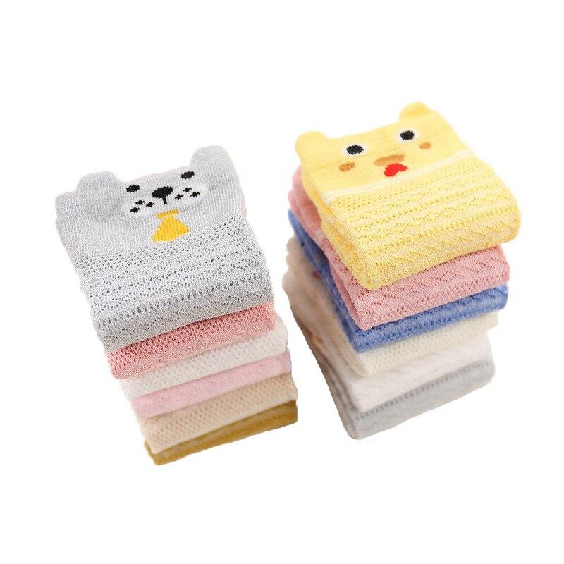 3Pairs 2018 Summer Socks for Boy Cotton Cartoon Animal Kids Mesh Striped Sock Cheap Stuff Girls Ruffle Socks Baby Accessories