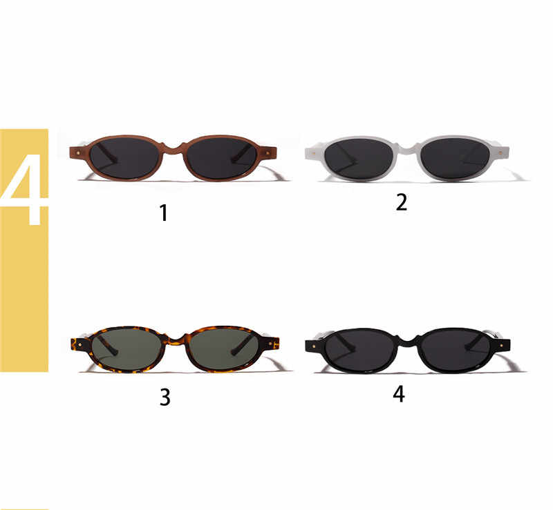 Rivet New Ultra Fashion Male Rock Personality Oval Light Frame Cool Women Small Glasses Sunglasses 2018 Female Punk Sun rhQCxtBsd