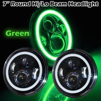 OffRoad 4x4 led headlight 7'' Round 40W Motorcycle Projector headlamp with Angel eyes for Jeep Wrangler JK CJ 8 Scrambler