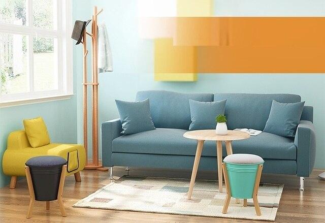 Slaapkamer Groen Wit : Huishouden slaapkamer kruk geel groen wit kleur opslag kruk gratis