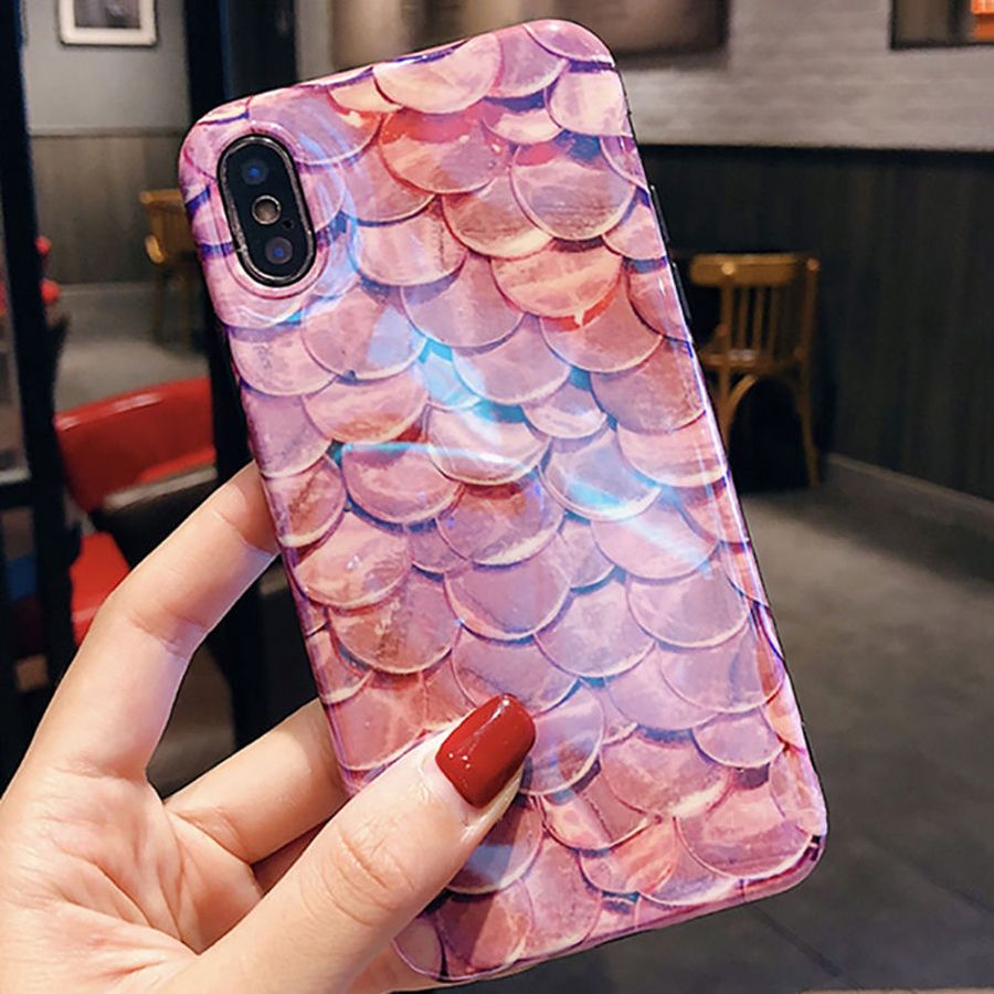 Luxury-Blu-Ray-Fish-Scales-Phone-Case-For-iPhone-6-6S-7-8-Plus-X-Fashion (1)