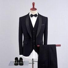 Лучший!  3шт мужские повседневные деловые платья ну вечеринку свадебные формальные куртки жилет брюки костюм