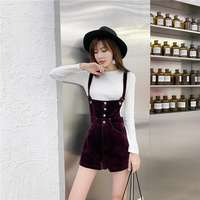Velvet Women Two Piece Set Pullover Slim White Top and Back Cross Straps High Waist Shorts New Fashion Sets Female