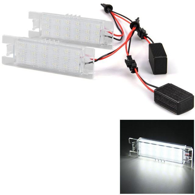 2 pcs 12 V SMD 3528 Luz Branca 18 LEDs Lâmpada Da Placa de Licença para Vauxhall Opel Astra Zafira Corsa C D H Astra J B