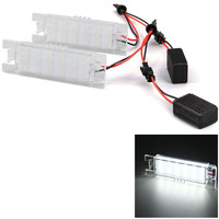 2pcs 12V SMD 3528 White Light 18 LEDs License Plate Lamp For Opel Zafira Astra