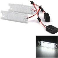 2pcs 12V SMD 3528 White Light 18 LEDs License Plate Lamp For Opel Zafira Astra