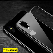 Ultra Thin Soft Transparent TPU Case For Apple iPhone X 8 8 Plus 7 silicone Case Cover For iPhone 6 6 7 Plus Phone Bag Case tpu soft case flash rhinestone edge phone protection case silicone protective cover for iphone 7 transparent gold