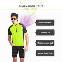 Men Summer Classic Lightweight Short Sleeve Cycling Jersey