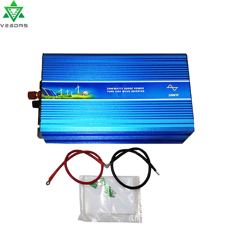 1000W Off Grid Pure Sine Wave Solar or Wind Inverter for 60V/72VDC Battery, Supply power to 110V/220VAC Applianeces