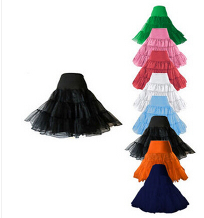 "Free shipping 26"" 50s Retro Underskirt Swing Vintage Petticoat Fancy Net Skirt Rockabilly Tutu many colors S/M L/XL 2XL 4XL 6XL"