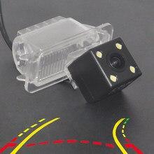 Pista de trayectoria dinámica cámara de visión trasera de aparcamiento línea de guía móvil 4LED para MONDEO/FIESTA/foco HATCHBACK/s-max/KUGA