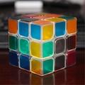 Profesional cubo mágico juguetes clásicos diversión antiestrés neo cubos cubo mágico transparente corazón cubo luminoso juguetes educativos 70b113