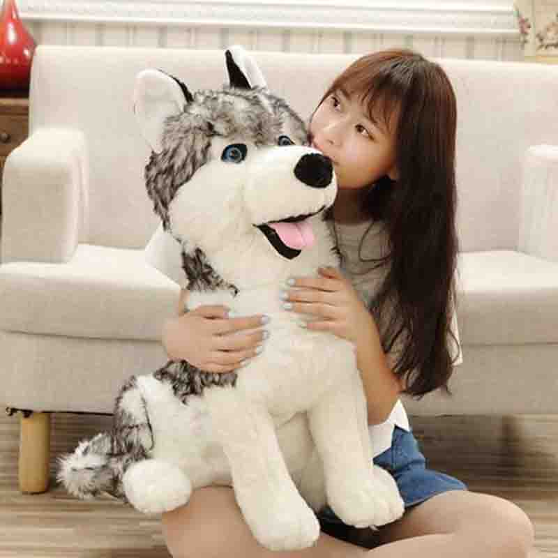 55cm Simulation German shepherd Plush toy Big Size SIBERIAN HUSKY Stuffed Animal Doll for children best birthday gift new cute plush toy cow doll simulation game more cattle stuffed animal christmas birthday gift for girls