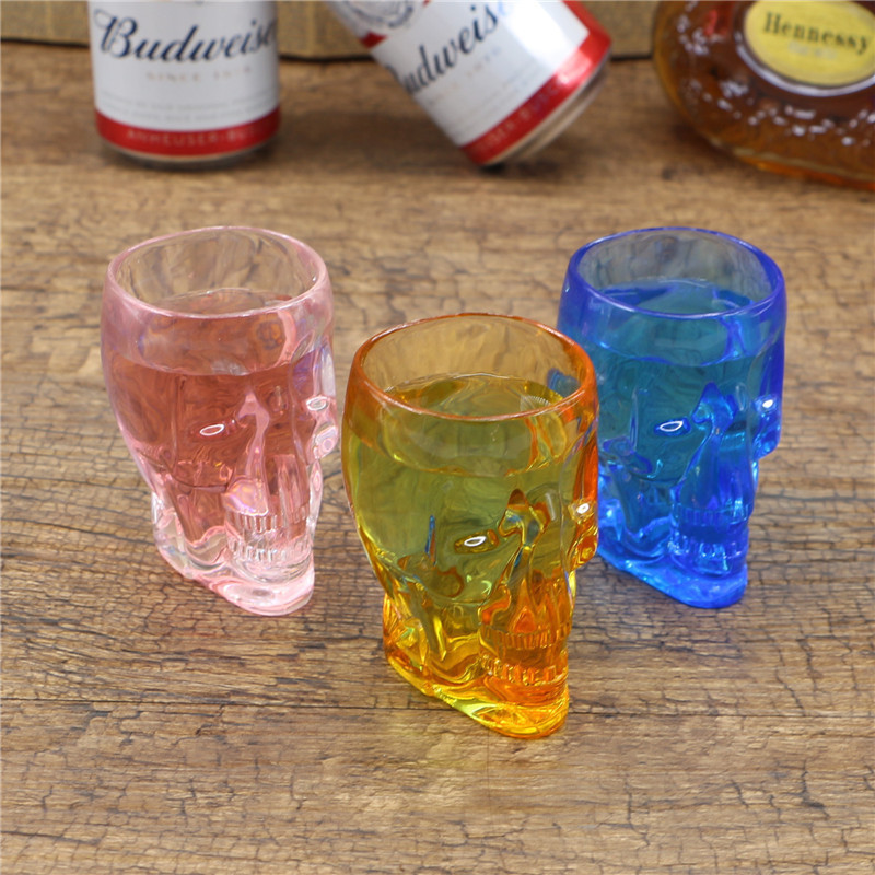 new plastic cocktail wine glass liquor cup skeleton head transparent acrylic beer mugs party my water