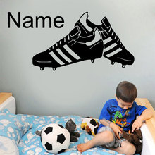 Customizable Name Football Shoes Pattern Vinyl Wall Decal Bo
