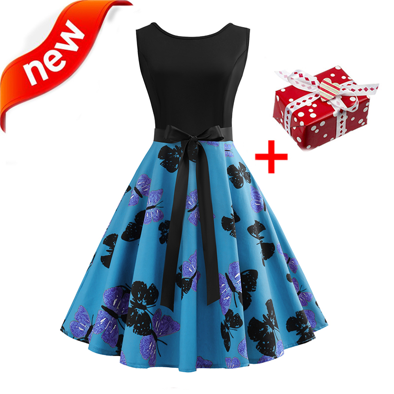 Dresses Summer Dress 2018 Women Plus Size XXL Butterfly Musical Notes Sundress Vintage Tunic Bow Floral Elegant Midi Party Dress