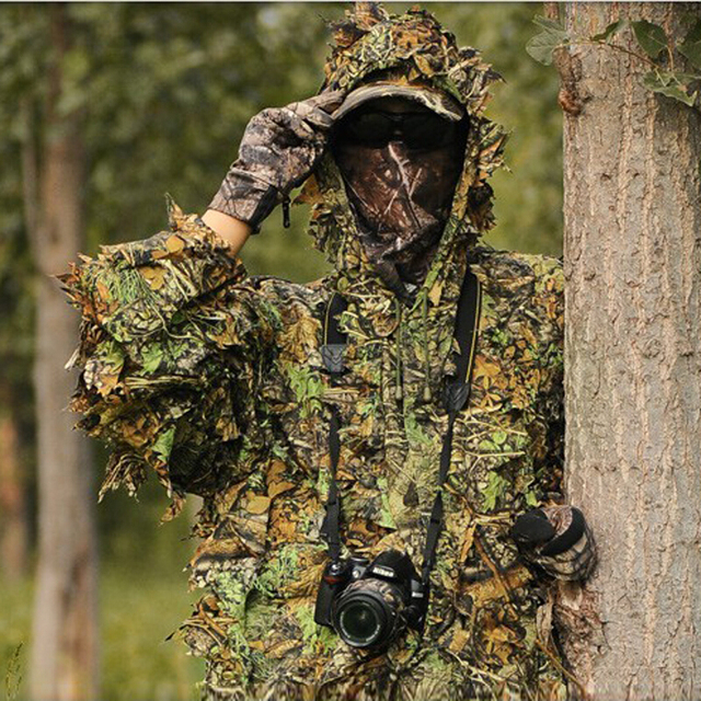 Cheap Wholesale Anti Infrared Outdoor Hunting Camouflage Clothing Coat And Pants 3D Maple Leaf Bionic Hunting Clothes Suit