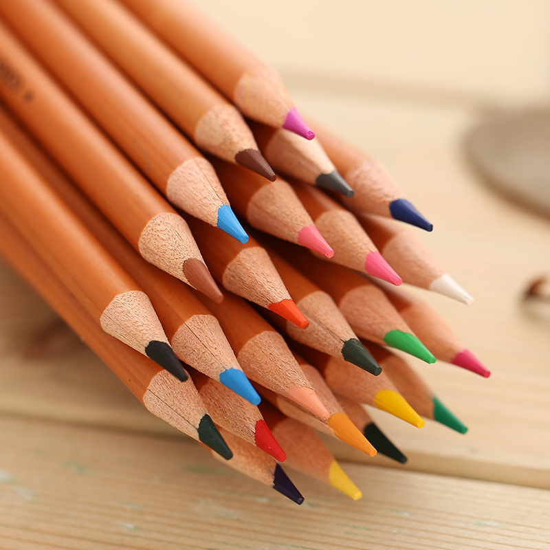 DELI oily color of lead for children 36-color painting graffiti color pencil coloring special brush coloring of trees