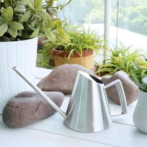 Image 4 - 900 ml/400 ml Paslanmaz Çelik sulama kovası Fırçalanmış Bahçe Dikim Yağmurlama Pot Yeşil Bitkiler Çiçekler Pratik bahçe aletleri