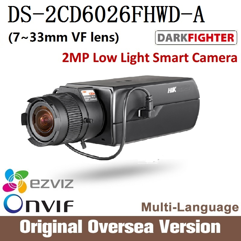 Hikvision  English version DS-2CD6026FHWD-A 7-33mm VF lens 2MP IP camera CCTV security camera Surveillance POE ONVIF hikvision ds 2de7230iw ae english version 2mp 1080p ip camera ptz camera 4 3mm 129mm 30x zoom support ezviz ip66 outdoor poe