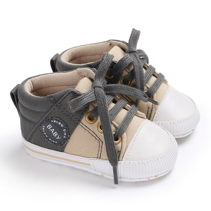 Baby Boy Gril Shoes First Walker Canvas Soft Bottom Soled ...
