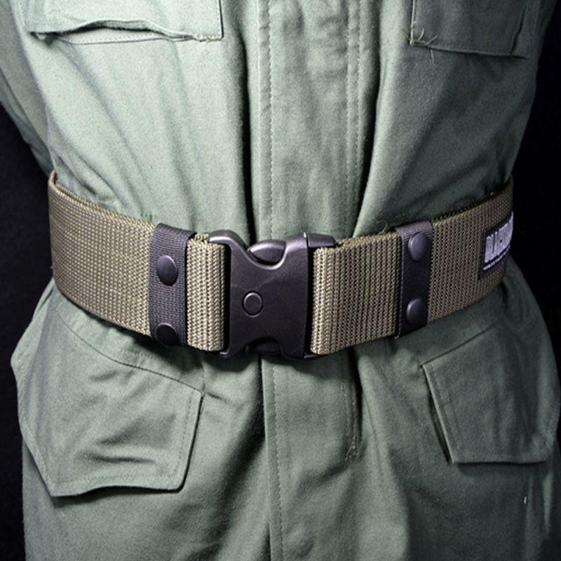 Hot Adjustable Survival Men Heavy Duty Combat Waistband Army Military Tactical Belts image