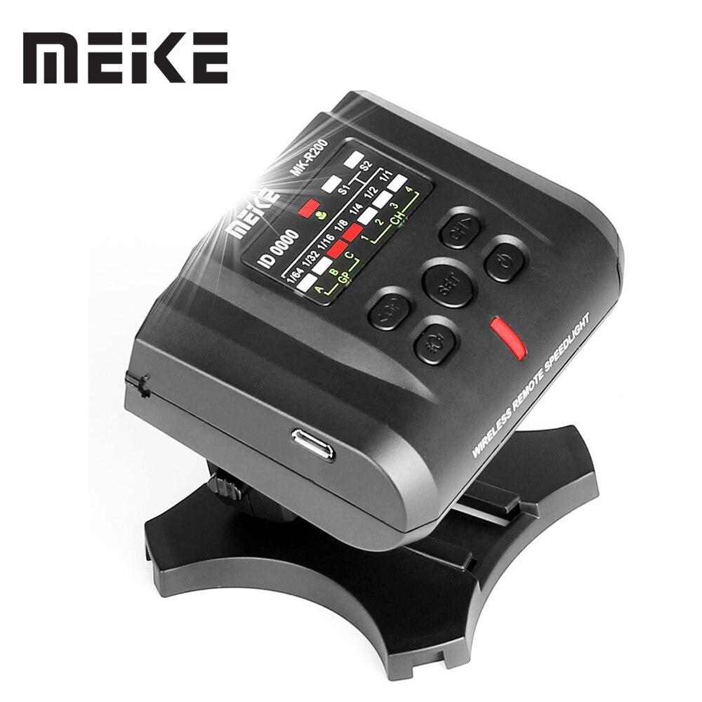 Meike MK-R200 2.4GHz Wireless Remote Flash for Nikon Digital SLR Cameras meike mk d750 battery grip pack for nikon d750 dslr camera replacement mb d16 as en el15 battery