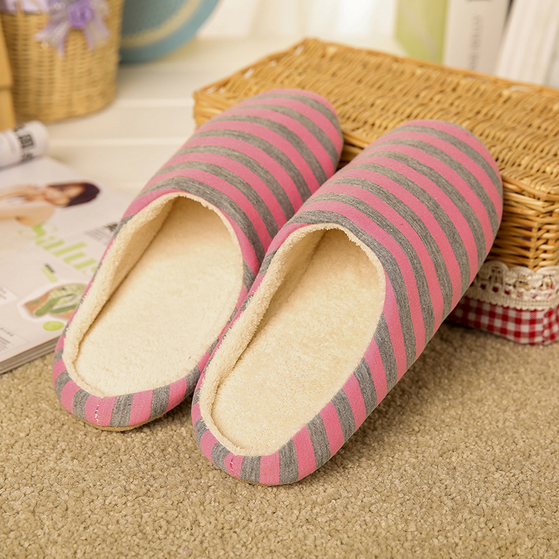 GAOKE Winter Warm Fur Home Slippers Indoor Plush For Woman
