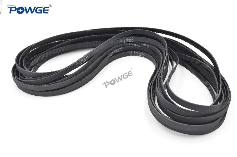 POWGE MXL courroie B372 B378 B380 B388 B390 Largeur 6.35mm 025 Dents 372 378 380 388 390 courroie synchrone B380MXL B390MXL