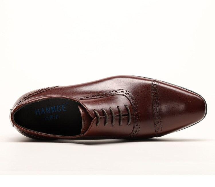Italian Man Shoes Vintage Luxury Oxfords Shoes For Men Formal Shoes Genuine Leather Fingertip Cap Office Dress Shoes in Formal Shoes from Shoes