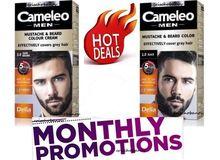 Delia Cameleo COLOUR CREAM Beard & Mustache Grey Hair Cover Dye Cream Effective Hair Tonic