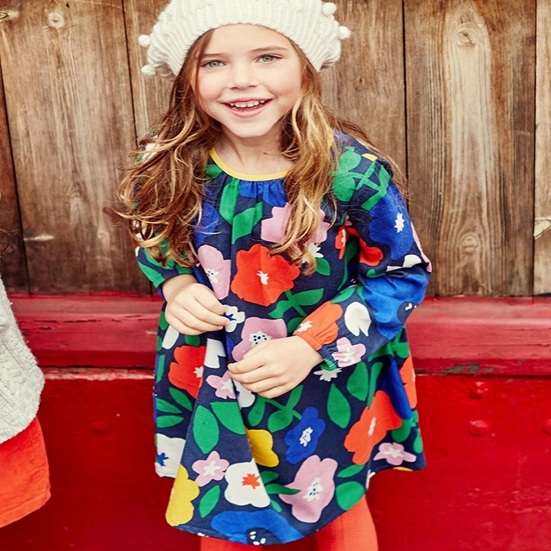 Baby Girl Dress Robe FilleTunic Jersey Girls Dresses Printed Roupa Infantil for Girls Designer Moana Party Dress for Kids 2-7T baroque printed bateau jersey sheath dress riviera aqua combo 10p